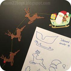 Om en måned går det for alvor løs med juleriet - jeg har taget forskud på glæderne her i weekenden og lavet lidt nyt pynt til køkkenvinduet:...
