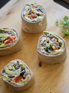 Meatless Monday: 7 Layer Dip Roll-Ups for Two