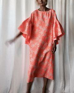 da0c3523cd Oyster dress   neon orange-ish pink  custom