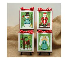 Christmas Cuties Four Cross Stitch Patterns by tinymodernist