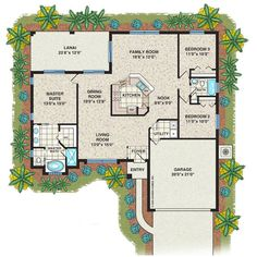 House Floor Plans 3 Bedroom 2 Bath With Garage