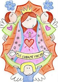 Dibujos coloreados de virgenes
