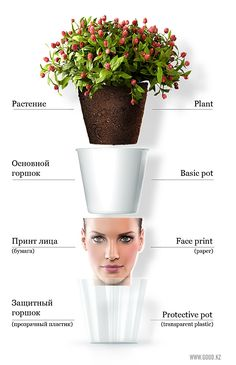 Face flower pot  Mix and Chic: Cool DIY project