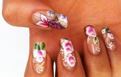 Diseños de uñas pinceladas manos y pies, diseños de uñas pinceladas masglo.   #manicuras #unhas #uñasdiscretas