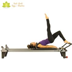 single leg pelvic lift pilates reformer exercise 5