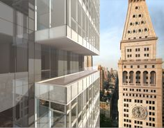 One Madison designed by CetraRuddy (rendered view of terrace)