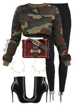 """Unbenannt #1259"" by elkischnelki ❤ liked on Polyvore featuring Beyond Yoga, Christian Louboutin, Prada and Justine Clenquet"