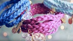 These Are Super Cool Wrapped Braided Charm Bracelets She Makes (Watch!)   DIY Joy Projects and Crafts Ideas