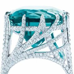 Tiffany & co. 22 karat blue tourmaline from their blue book collection. Haven't stopped thinking about it since I saw it! Gorgeous <3