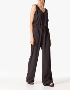 Jumpsuit with back fringing detail Jumpsuit, Detail, Dresses, Style, Fashion, Bangs, Overalls, Vestidos, Swag