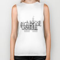 Biker Tank featuring CUSTOM ORDER -- For the love of fictional worlds. by bookwormboutique