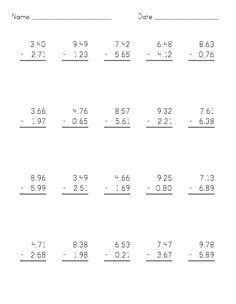 decimals long division worksheet pdf