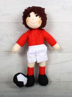 Fotballer Johan Personalised Rag Doll