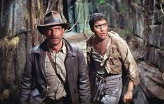 Indiana Jones (Harrison Ford) & Satipo (Alfred Molina) - Raiders of the Lost Ark Harrison Ford Indiana Jones, Indiana Jones Adventure, Indiana Jones Films, Henry Jones Jr, Alfred Molina, George Lucas, Steven Spielberg, Blade Runner, Raiders