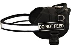 DT Works Harness Do Not Feed BlackWhite XSmall  Fits Girth Size 21Inch to 26Inch *** Check out the image by visiting the affiliate link Amazon.com on image.