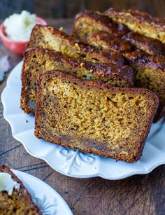 """<strong>Get the <a href=""""http://www.averiecooks.com/2012/09/pumpkin-banana-bread-with-browned-butter-cream-cheese-frosting.html"""" target=""""_blank"""">Pumpkin Banana Bread recipe</a> from Averie Cooks</strong>"""