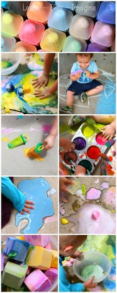 Ideas and activities for hosting a sidewalk chalk play date.  Invite your friends over for some messy summer fun!