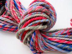 Nourish super bulky navajo plied Falkland handspun yarn by marion