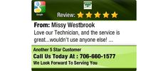 Love our Technician, and the service is great...wouldn't use anyone else!