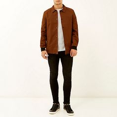 River Island - Rust brown casual coach jacket €65