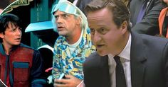 It's not just a time-travel anniversary for film fans, today is the historic moment David Cameron referenced popular culture