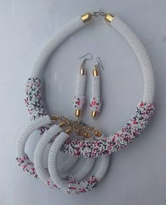 Pearl Necklace Set for Ladies - Jewellery Set - African Beads Jewellery Set - Tribal J. Orange Pearl Necklace Set for Ladies - Jewellery Set - African Beads Jewellery Set - Tribal Jewellery Set - Zulu Necklaces - Maasai Necklaces - Your Present Pearl Necklace Set, Tribal Necklace, Tribal Jewelry, Beaded Jewelry, Handmade Jewelry, Beaded Necklace, Pearl Set, Women's Jewelry Sets, Womens Jewelry Rings
