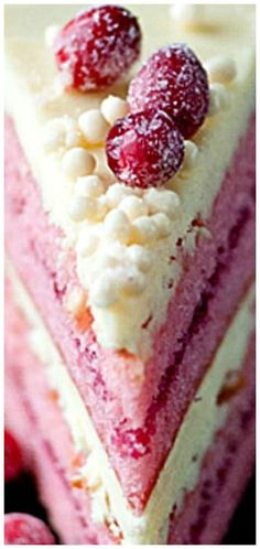 A Delicious Cranberry Cake Recipe White Chocolate Cranberry Cake ❊ Cupcakes, Cupcake Cakes, Sweet Recipes, Cake Recipes, Dessert Recipes, Frosting Recipes, Dessert Ideas, Holiday Baking, Christmas Baking