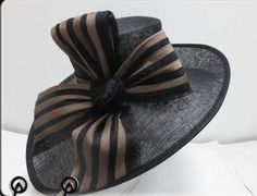 Ladies Black & Brown Ribbon,Oval Wide,Races,Formals,Weddings,Dressage,Hat Making