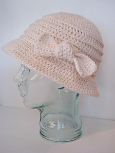 Free crochet bow hat pattner