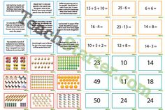 Maths Word Problem Match Up Game - 0-50 Addition and Subtraction | Teaching Resources - Teach Starter