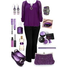 """Plus Size in Purple"" by elise1114 on Polyvore"