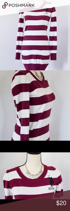 🍩🍩NWOT US Polo Assn. Dress🍩🍩 🍩🍩This listing qualifies for my 2 for $30 bundle! Just look for other listings with the 🍩 symbol. Make an offer of $30 and I'll accept! Save on your items and save on shipping! 🍩🍩           NWOT US Polo Assn rugby sweater dress. Thin sweater. Could worn Anytime. Super cute!🍩🍩 U.S. Polo Assn. Dresses Long Sleeve