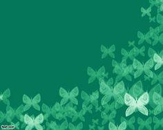 Plantilla PowerPoint Verde con Mariposas
