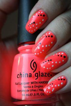 Nail art: Love this color!