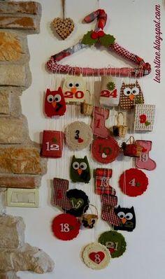 calendario dell'avvento http://laboratoriperbambini.altervista.org/blog/calendario-dellavvento/ natale christmas