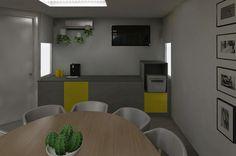 3D ontwerp project vergaderruimtes