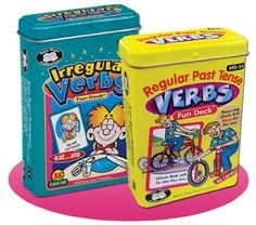 Regular Past Tense Verbs and Irregular Verbs Fun Deck Cards Combo - Super Duper Educational Learning Toy for Kids Super Duper® Publications http://www.amazon.com/dp/160723081X/ref=cm_sw_r_pi_dp_C6iItb1KSXS1DW37