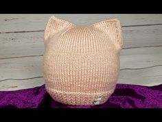 Детская шапочка Стильная Шапка-кошка. Подробный МК. - YouTube Knitting For Kids, Knitting Projects, Baby Knitting, Booties Crochet, Knit Crochet, All Free Crochet, Neck Warmer, Knitted Hats, Reusable Tote Bags