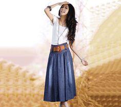 women dress blue dress long dress summer dress  by RALstyleSHOP, $45.00