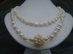 Necklace  Pearl cluster  Showoffjewels by showoffjewels on Etsy, £195.00