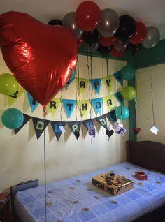 Decoracion de cumpleaños para novios