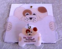 Shrinky dink dog is tags.  Already made one and it looks great!