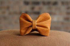 Leather Bow Cuff Bracelet - Burnt Orange - University of Texas - Game Day Gear