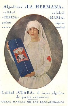 An image of a nurse is used in an advertisement to endorse a manufacturer's medical bandages, ca. 1910. Pictures of Nursing: The Zwerdling Postcard Collection. National Library of Medicine