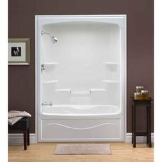 Ordinaire One Piece Shower Insert. Liberty 60 Inch Acrylic Tub And Shower Whirlpool   Left Hand