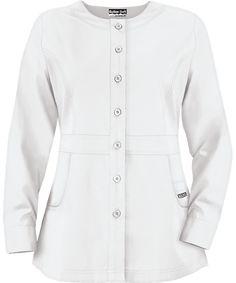 02ff65e63c8 Butter-Soft Scrubs by UA™ Ladies Button Front Warm-Up Jacket. Medical ScrubsNursing  ScrubsWhite ScrubsScrub ...