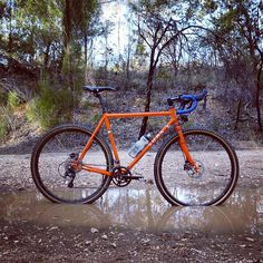 Finished my @somafab Wolverine and took some shots after our first good Autumn rain. Full set on our Facebook page. #bikesthatworkbeautifully #biap