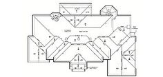 Hip Roof, Roof Plan, Roof Design, Master Bath, House Plans, Floor Plans, How To Plan, Billionaire, Uni