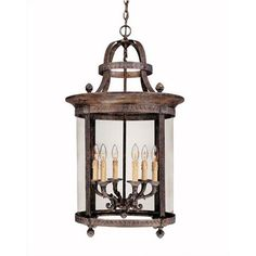World Imports Lighting French Country Influence  Hanging Lantern in French Bronze