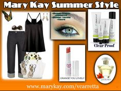 Summer style with Mary Kay.  The best skincare, makeup and fragrance!  SHOP:  www.marykay.com/vcarretta